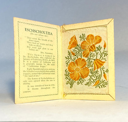 Eschscholtzia - Silk Embroidery 1933 Cigarette Card