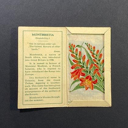Montbreita - Silk Embroidery 1933 Cigarette Card