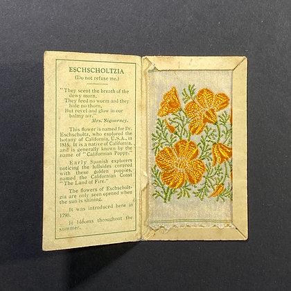Eschshcoltzia - Silk Embroidery 1933 Cigarette Card