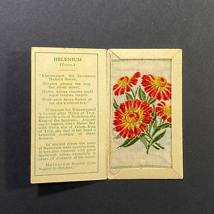 Helenium - Silk Embroidery 1933 Cigarette Card