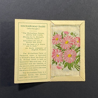 Michaelmas Daisy - Silk Embroidery 1933 Cigarette Card