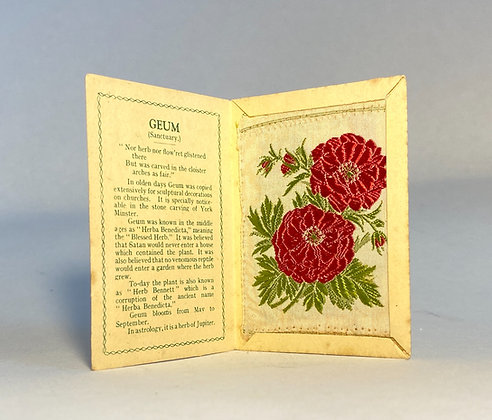 Geum - Silk Embroidery 1933 Cigarette Card