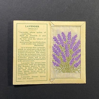 Lavender - Silk Embroidery 1933 Cigarette Card