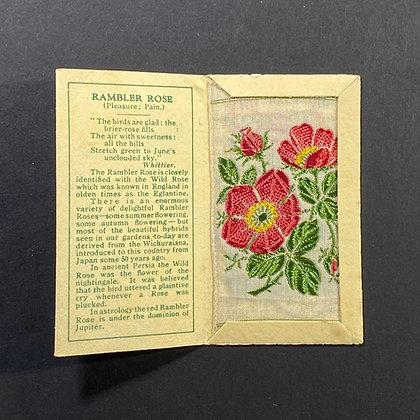 Rambler Rose - Silk Embroidery 1933 Cigarette Card