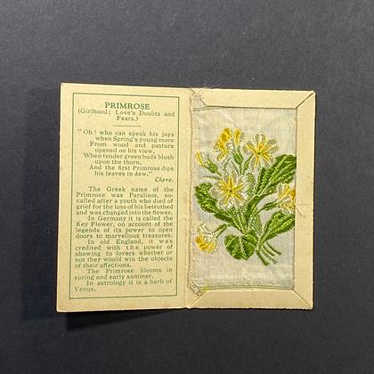 Primrose - Silk Embroidery 1933 Cigarette Card