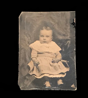 Tin Type Photograph of a Child