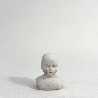 Very Small Porcelain Doll Bust - Circa 1900