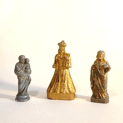 CLEARANCE - 3 Small Metal Religious Icons