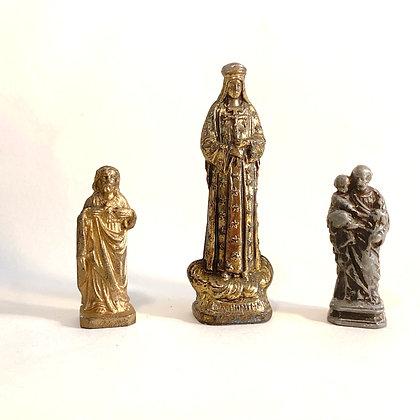 3 Small Metal Religious Icons