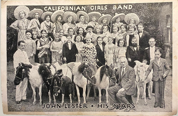 Californian Girls Band, John Lesters All Stars - Postcard