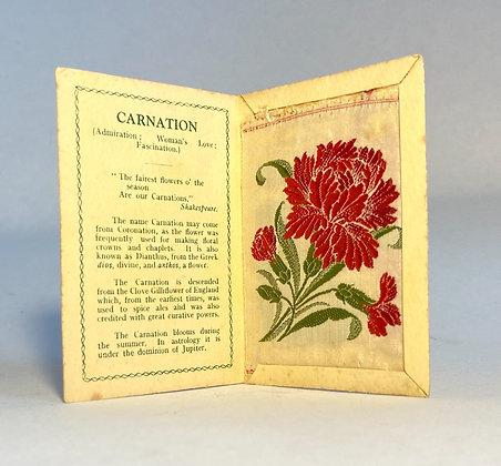 Carnation - Silk Embroidery 1933 Cigarette Card
