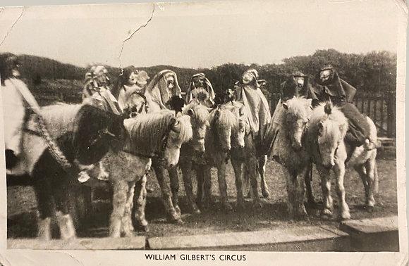 William Guilbert's Circus - Postcard