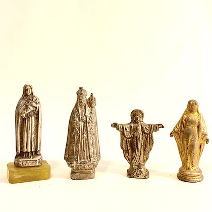 CLEARANCE -  4 Small Metal Religious Icons