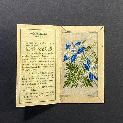 Aquilegia - Silk Embroidery 1933 Cigarette Card