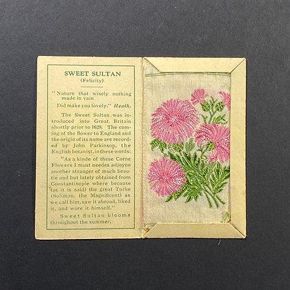 Sweet Sultan - Silk Embroidery 1933 Cigarette Card
