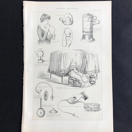 Nursery Appliances - Circa 1900 Book Plate
