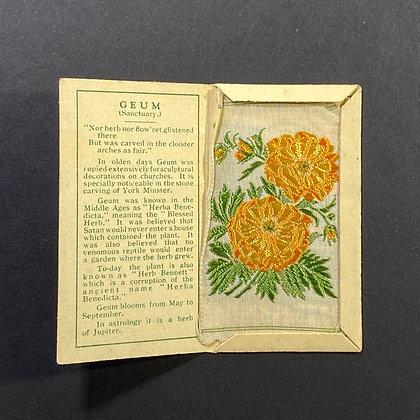 Geum - Silk Embroidery 1933 Cigarette Card