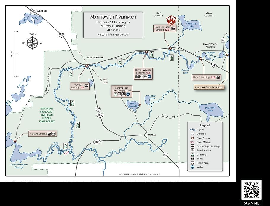 Manitowish River Trip Map.png
