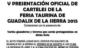 Presentación Carteles Feria Taurina Guadalix de la Sierra 2015