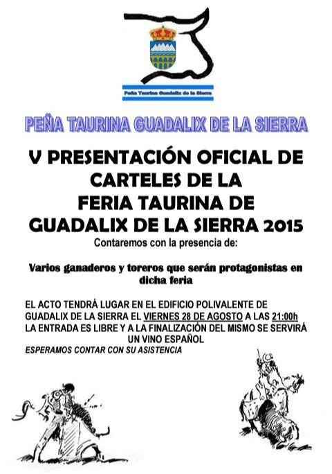 Presentación Carteles Feria Taurina 2015