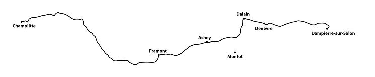 DAY 24 Champlitte to Dampierre-sur-Salon