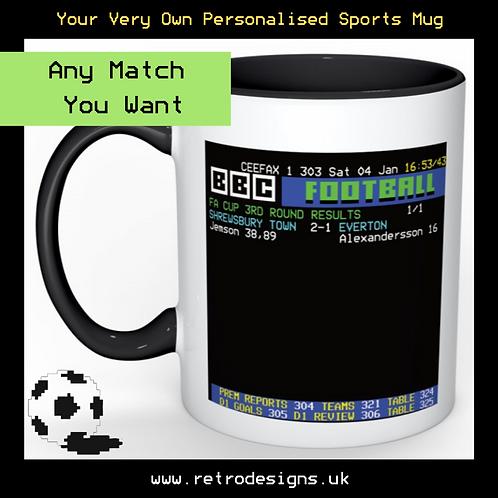 CEEFAX Sports Result Mug