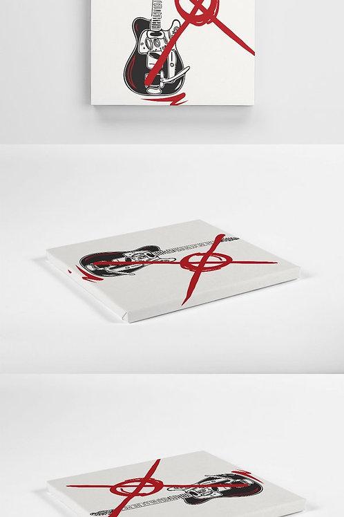 Guitar -Exclusive Canvas 30cm x 30cm