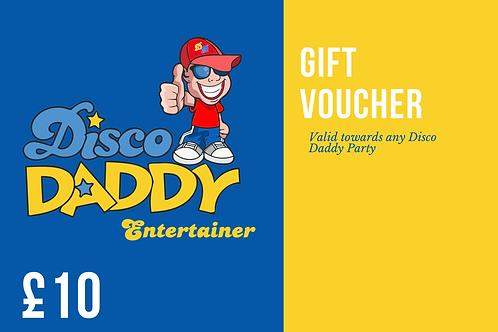 Disco Daddy Gift Voucher