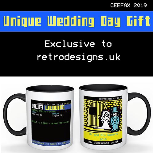 CEEFAX Fabulous Wedding Day Gift Mug
