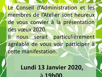 Vœux Atelier d'urbanisme 2020 - Invitation