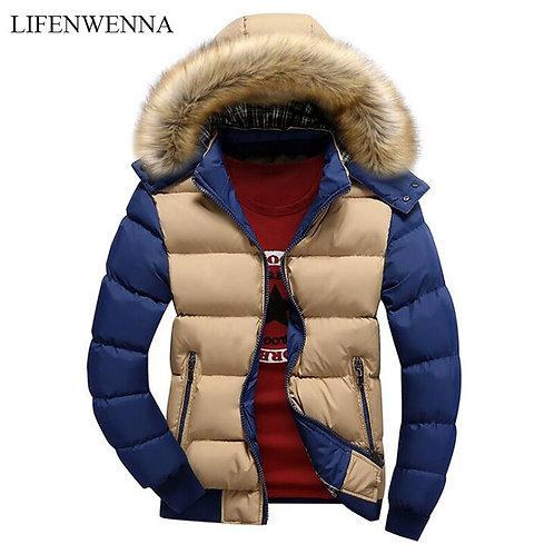 Winter Jacket Men Down Jacket 9 Color Fashion Brand With Fur Hood Hat