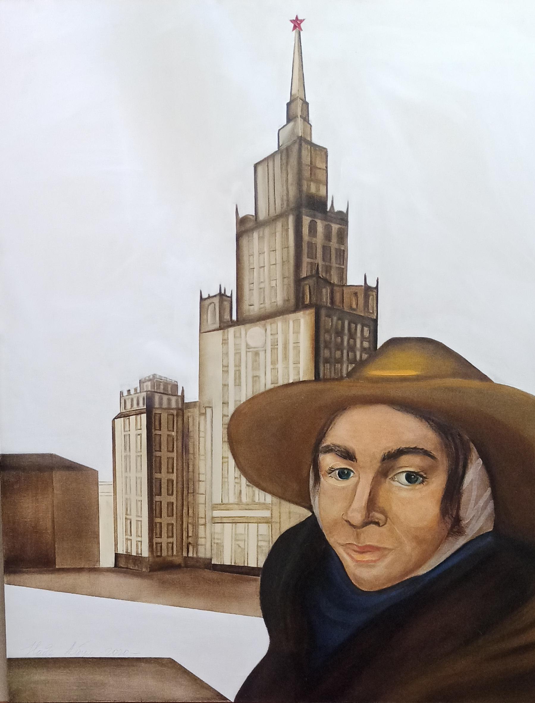 Сэлфи на фоне Сталинки