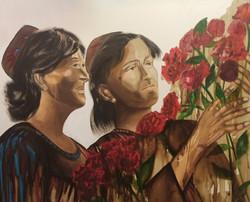Девушки и розы