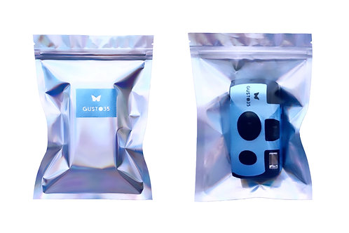 """GUSTO35 """"THE PEOPLE YOU LOVE"""" DISPOSABLE CAMERA [ice blue]"""
