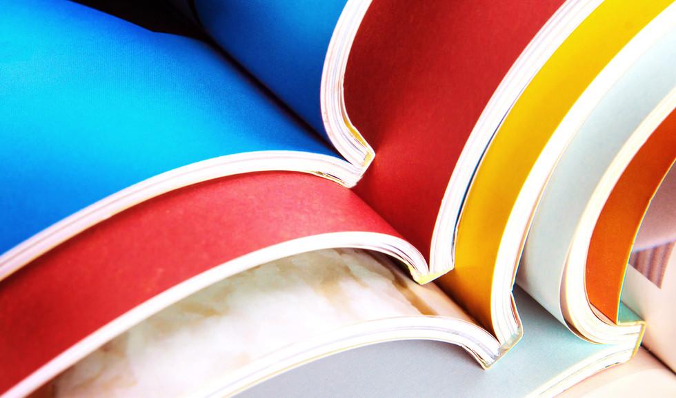 Livres colorés