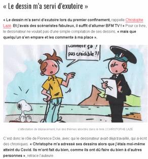 Les dessins de Christophe Lazé sur la crise sanitaire réunis dans un livre