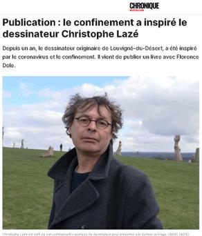 Publication : le confinement a inspiré le dessinateur Christophe Lazé