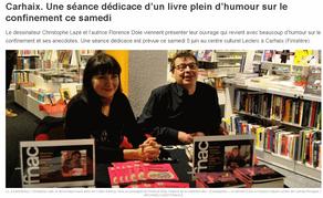 Dédicace samedi 5 juin de 10 h à 18 h à l'espace culturel Leclerc de Carhaix-Plouguer
