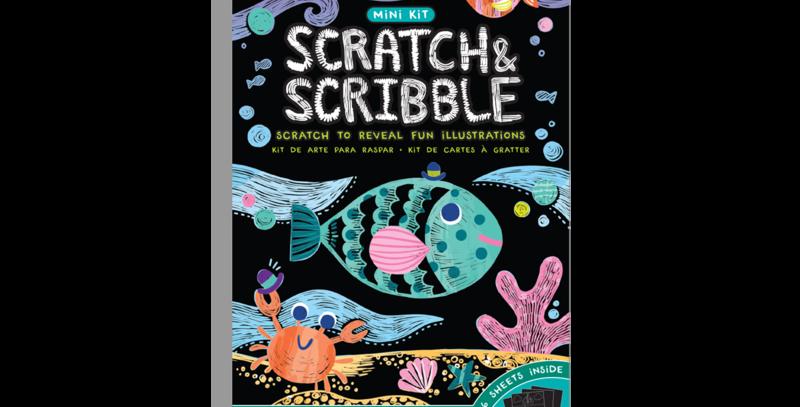 ooly - Scratch & Scribble Mini Scatch Art Kit - Friendly Fish