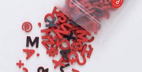 The Type Set CO - Soft Magnetic Letter Set - Desert Poppy Sans Serif