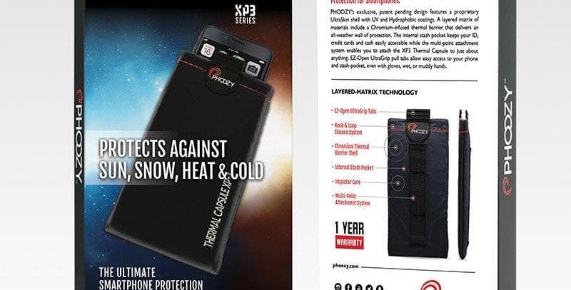 Phoozy: XP3 Series -Ultimate Smartphone Protection-Cosmic Black (Larger Phones)
