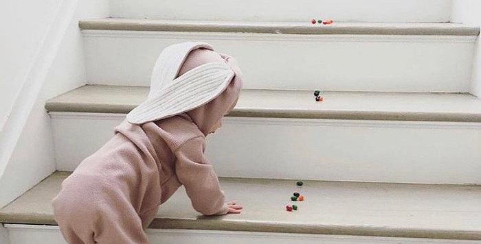 Mama Siesta: Bunny Sleep Suit (Pink)