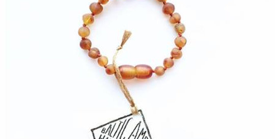 "Canyonleaf - Raw Cognac Amber Anklet or Bracelet | Raw Honey 5"""