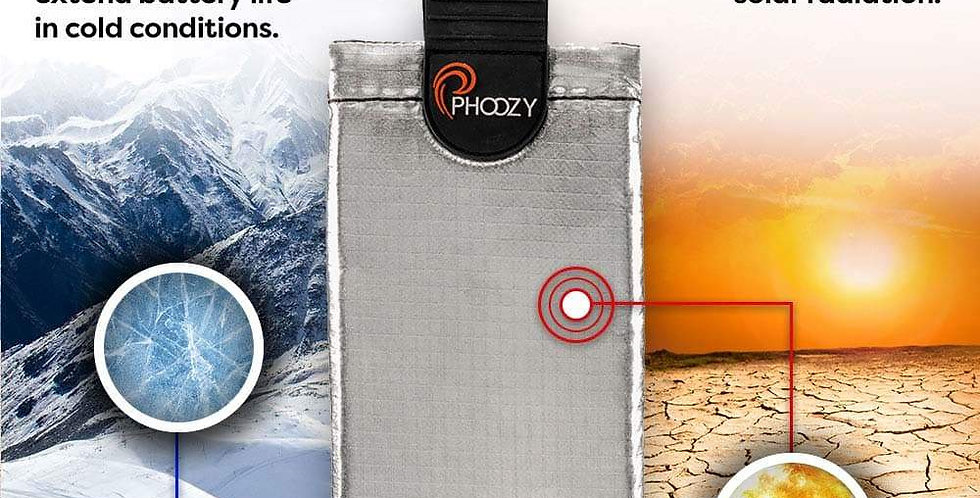 Phoozy: XP3 Series -Ultimate Smartphone Protection-Iridium Silver (Medium Phone)