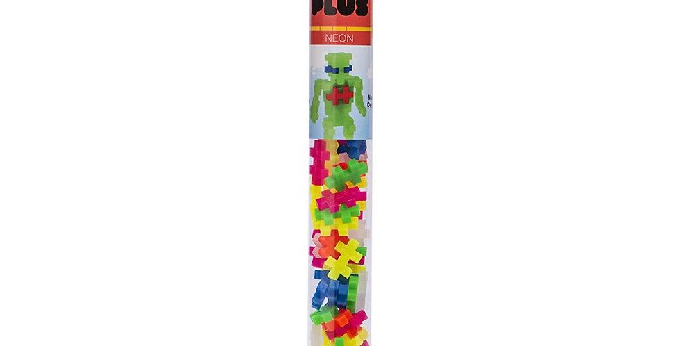 Plus-Plus: Mini Maker Tube - 70pc Neon Mix