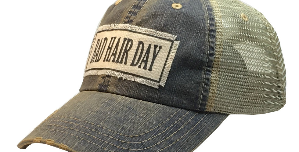 Vintage Life: Bad Hair Day Distressed Trucker Hat Baseball Cap