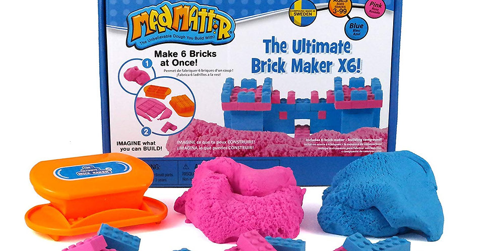 Mad Mattr The Ultimate Brick Maker X6 Box Set (Blue & Pink)