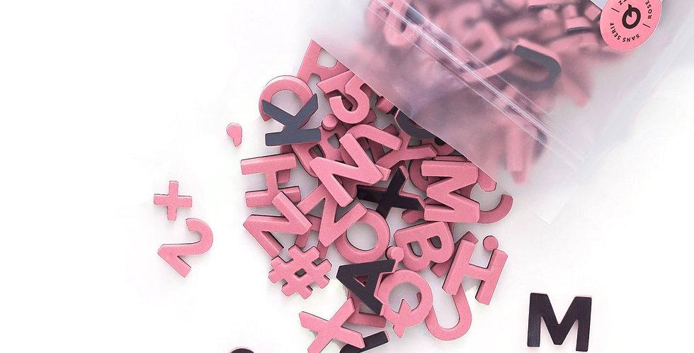 The Type Set CO - Soft Magnetic Letter Set Rose Quartz Sans Serif