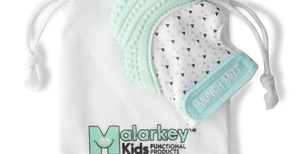 Malarkey: Munch Mitt -Mint Green Triangles