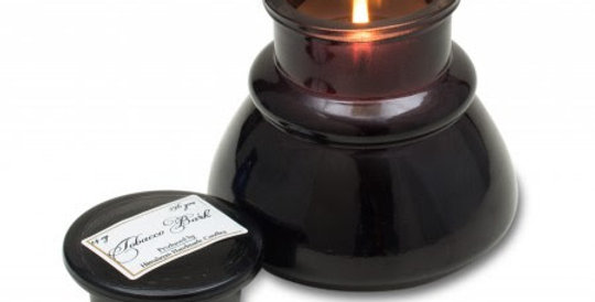 Himalayan Candles - Inkwell Pots 14oz Black - Tobacco Bark